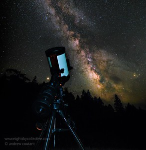 Milkyway ready to Shoot Prime with a Focal Reducer @ 1960mm FL F7 , bright star lower left is actually Saturn- Rusty Shovel Ranch, Laytonville CA