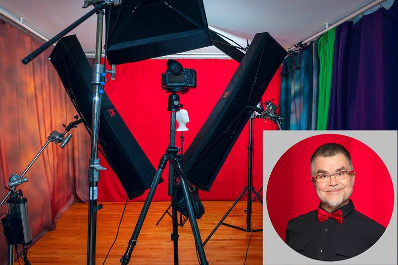 Val in the studio