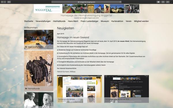 Homepage neue Version