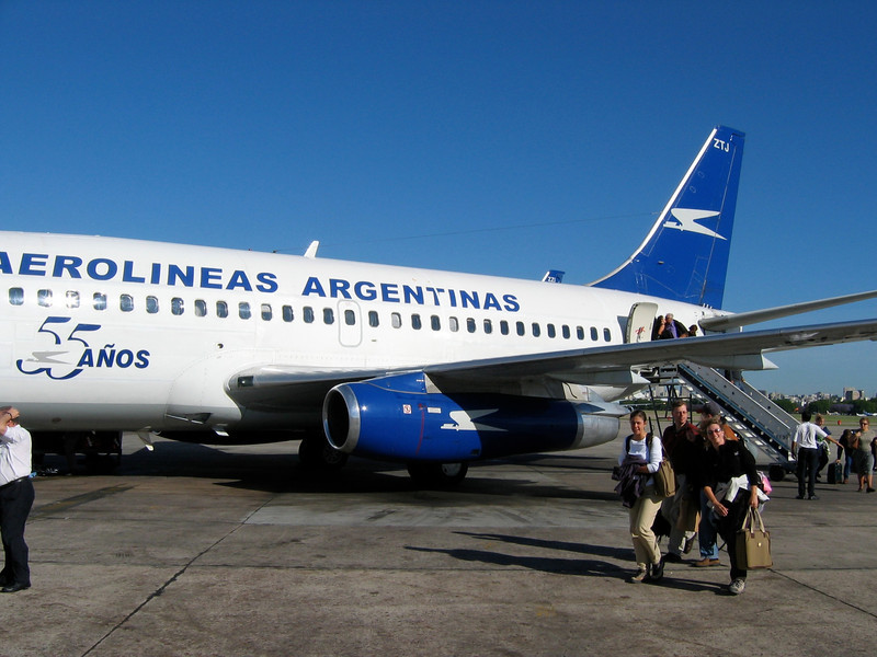 The second airport in Buenos Aires is Jorge Newbery Airfield.  It is located in Palermo within a couple miles of the city center.  Flights here leave for other parts of Argentina, as well as Uruguay, Chile and other South American locations.