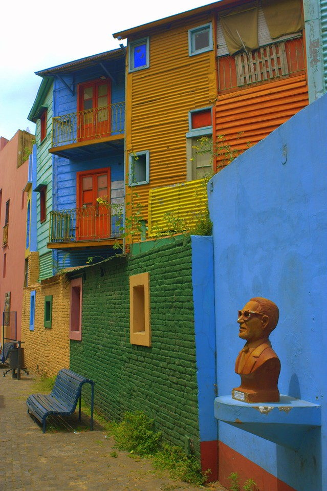 Flats in the La Boca District of Buenos Aires, Argentina