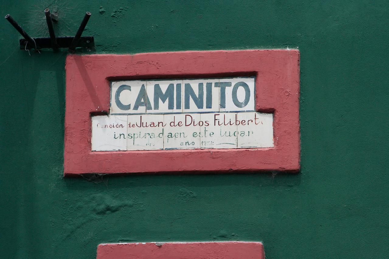 La Boca is a popular destination for tourists visiting Argentina, with its colourful houses and pedestrian street, the Caminito, where tango artists perform and tango-related memorabilia is sold.