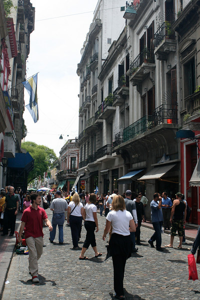 On Sundays, many of the side streets are closed to cars and open to pedestrians.