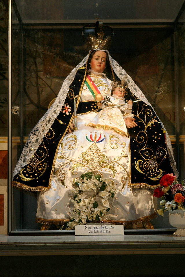 Statue in the Metropolitan Cathedral of Our Lady of La Paz.