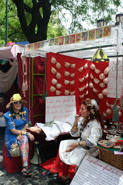 The Sunday market in San Telmo is an eclectic collection of booths and people.