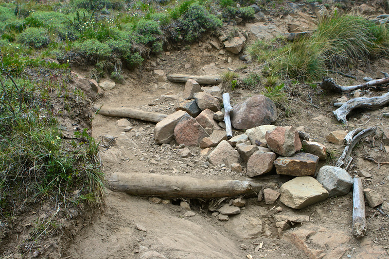 Don't expect overly developed trails when hiking near the Fitz Roy.