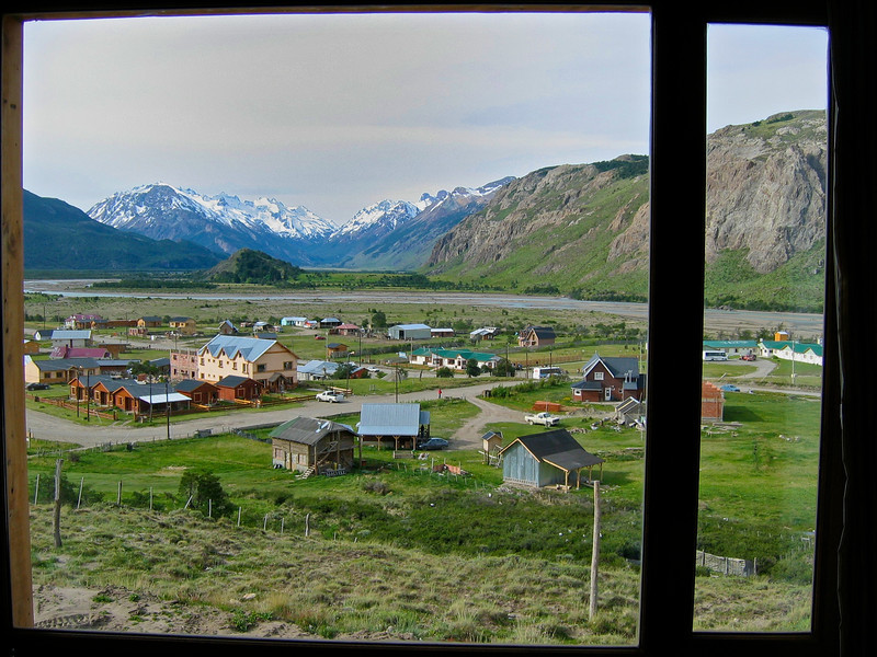 You can also look down on the town of El Calafate from some rooms.