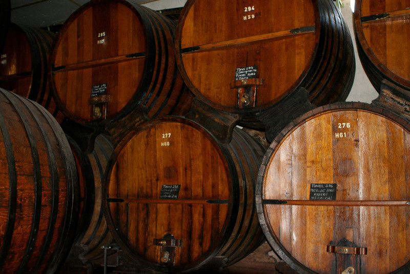 Their underground cellars were built in 1890.  Their red wines are aged for lever two years in French Oak casks. ,