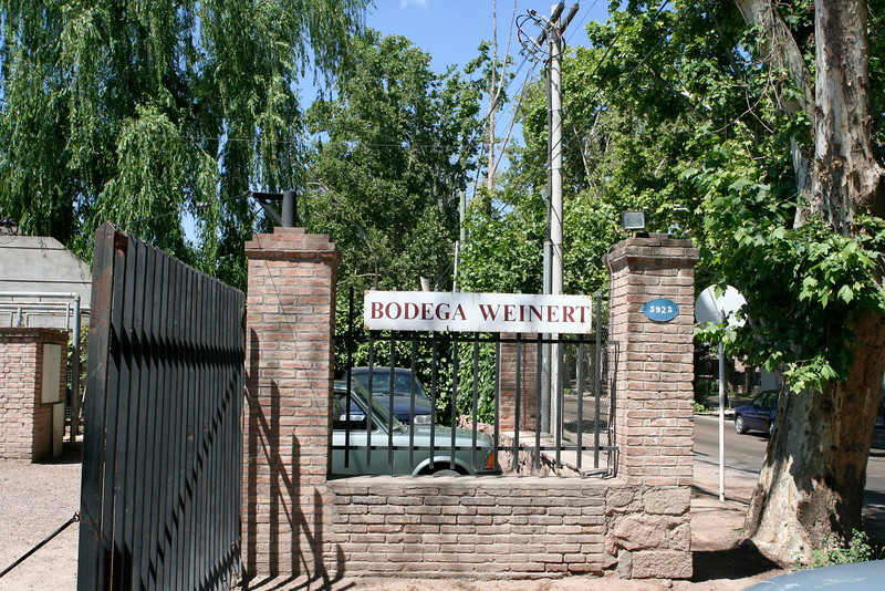 Bodega Weinert just outside Mendoza.