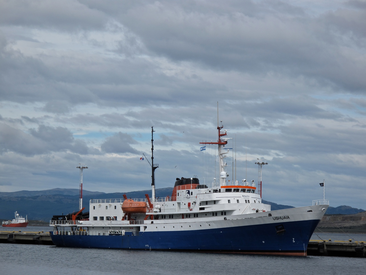 This is the M/V Ushuaia our small expedition boat that we took to Antarctica.
