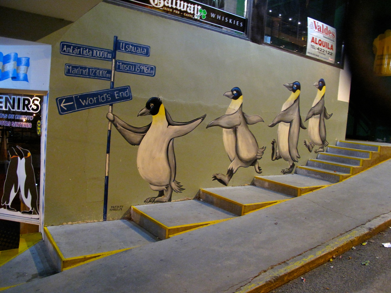 """Ushuaia's economy depends on Antarctic tourism, so almost everything in town has some sort of """"penguin"""" theme."""