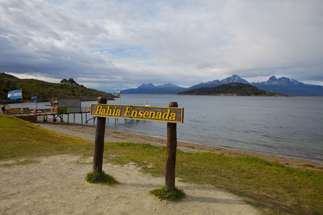 This is Bahia Ensenada in Tierra del Fuego National Parc which is about 20 minutes outside of Ushuaia.