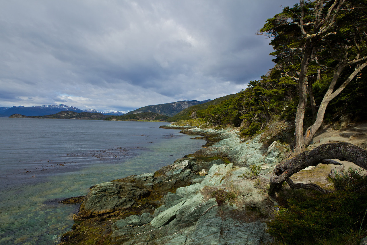 Most of the park runs along the Beagle Channel which leads out to the Drake Passage.