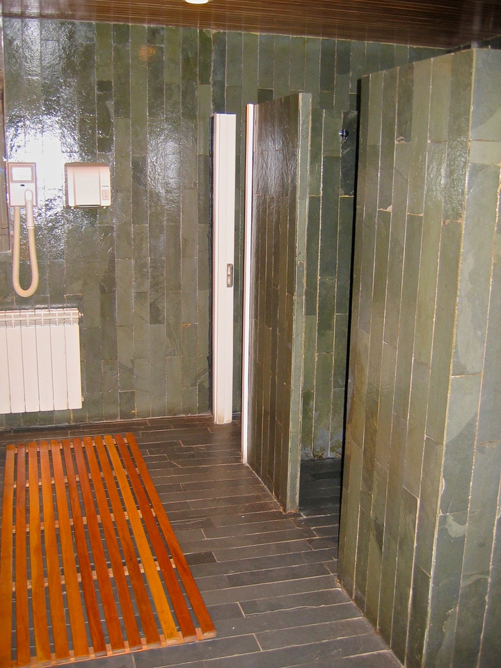 …and relax in the sauna/steam room afterwards.