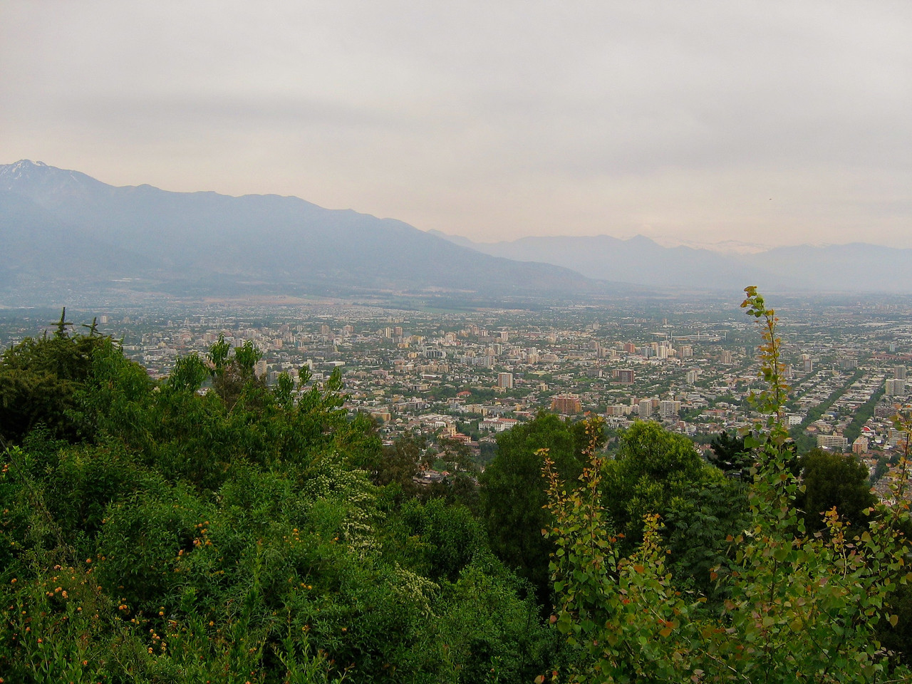 This is a view of Santiago from the top of San Cristobal Hill.
