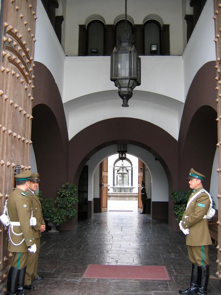You can walk directly into the Palacio.