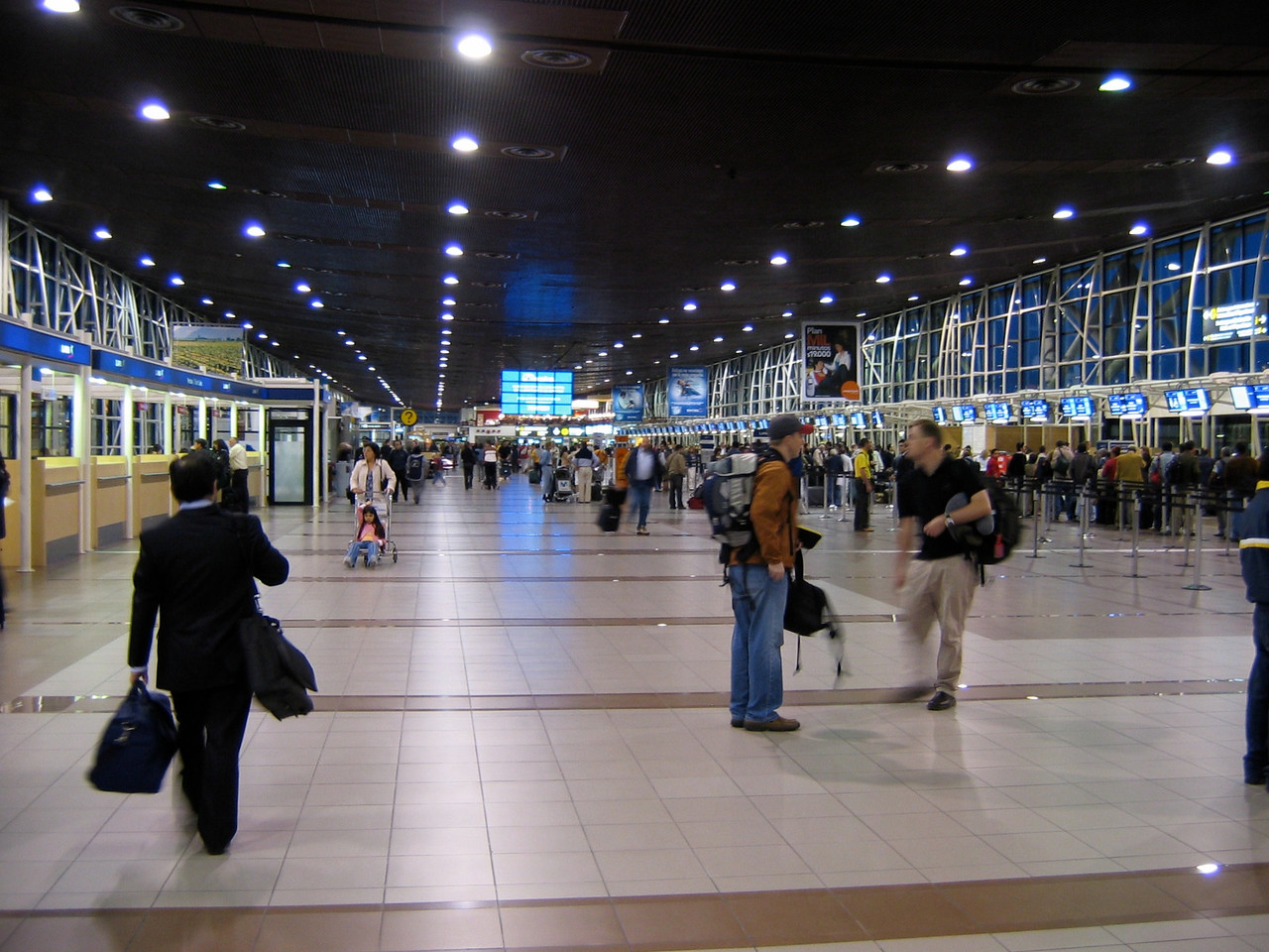Main terminal at Santiago airport.