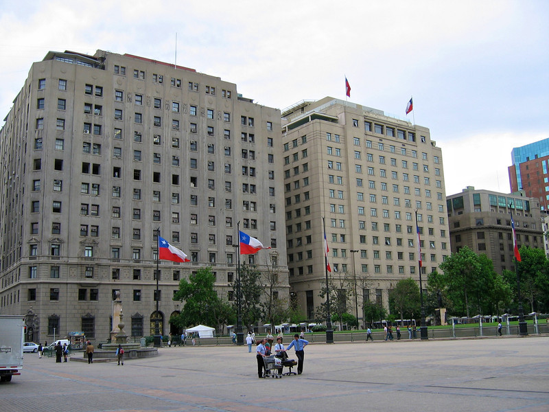 Ministry buildings along the Plaza.