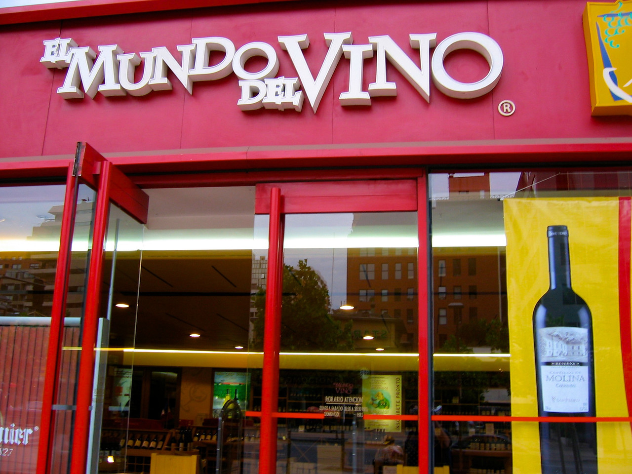 El Mundo del Vino is a small chain of wine stores in Santiago with a wide selection of South American wines.
