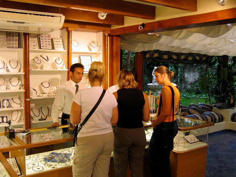 It is found in only a few places in the world, including portions of Chile and Argentina.  There are speciality stores located throughout the countries where you can purchase jewelry made from the stones.