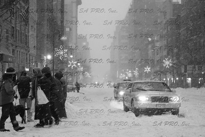 snow in New York City: Upper West Side