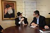 Israel Deputy Foreign Minister Danny Ayalon visiting Rebbe Menachem Mendel Schneerson Ohel in Queens, NY.<br /> Photo by Shahar Azran. <br /> FOR PERSONAL USE ONLY. (C) SA PRO, INC.