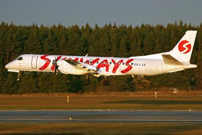 Skyways Express (Sweden) SAAB 2000 SE-LSE (msn 046) ARN (Stefan Sjogren). Image: 900888.