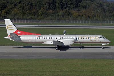 Etihad Regional-Darwin Airline SAAB 2000 HB-IZP (msn 031)  GVA (Paul Denton). Image: 925074.