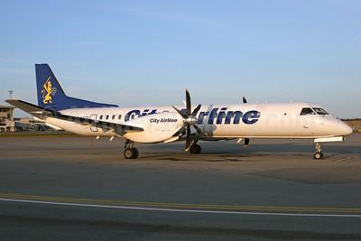 City Airline SAAB 2000 SE-LSG (msn 055) ARN (Stefan Sjogren). Image: 902401.