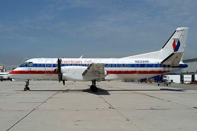 American Eagle Airlines (2nd) SAAB 340B N222NE (msn 222) LAX (Roy Lock). Image: 946594.