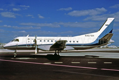 Eastern Express-Bar Harbor Airlines SAAB 340A N407BH (msn 078) MIA (Bruce Drum). Image: 103022.
