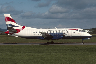 British Airways - Loganair SAAB 340B G-LGND (msn 169) GLA (Robbie Shaw). Image: 954726.