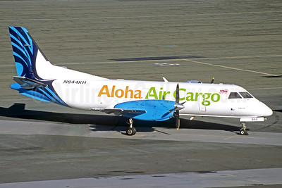 Aloha Air Cargo SAAB 340A (F) N844KH (msn 108) HNL (Jacques Guillem Collection). Image: 927791.