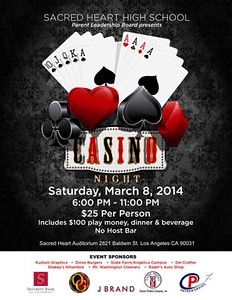 SHHS CASINO NIGHT • 03.08.14