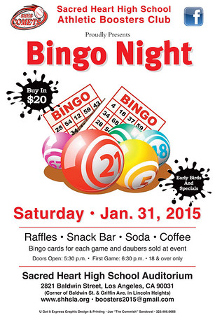 BINGO NIGHT • 01.31.15