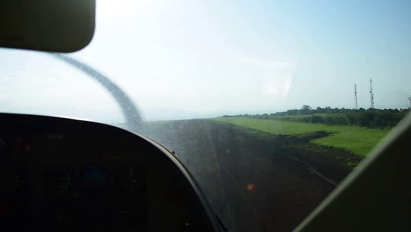 Take off- From Manyara airstrip - Ngorongoro Highlands Feb 2016