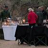 A surprise Londolozi treat...an afternoon tasting in the bush which included bubbly, red and white wines, South African flavored gins with tonic, a real Boerwurst sausage on the grill!