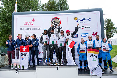 The podium: 1st: Circolo della Vela Bari, Italy 2nd: Société Nautique de Genève, Switzerland 3rd: Wassersport Verein Hemelingen, Germany © SCL/Sailing Energy
