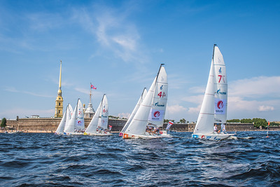 The SCL fleet in front of Peter and Paul Fortress © SCL/Andrey Sheremetev