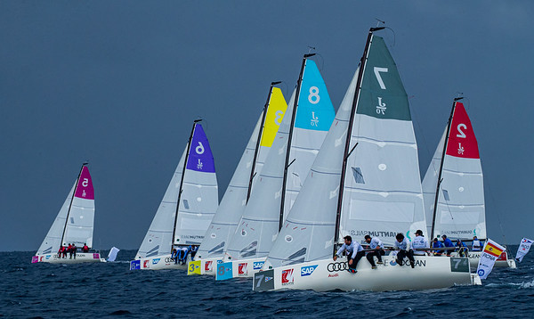 The Audi SAILING Champions League Final 2020 takes place from 15 to 18 October in Porto Cervo, Italy, at the iconic Yacht Club Costa Smeralda (YCCS). Entering the competition are the best national teams of each National Sailing League in 2019 as well as the top teams qualified through the SAILING Champions League Qualifier 2020 at Lake Starnberg. The international field of high performance crews promises a tight outcome of the season final. YCCS is hosting a SAILING Champions League regatta for the sixth time, again having its long-time partners Audi and the One Ocean Foundation on board.  16 October, 2020 © SAILING Champions League / SAILING ENERGY