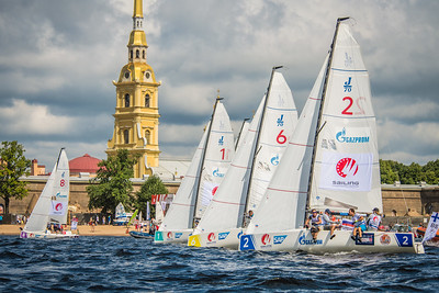 SCL in St. Petersburg in front of the Peter and Paul Fortress © SAILING Champions League/Andrey Sheremetev