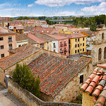 Zamora high angle view roofs Spain