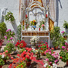 Monesterio religious flowers altar by via de la Plata