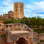 Zamora the castle El Castillo in Spain