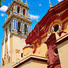 Triana barrio in Seville Santa Ana church spain