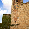 Caceres Saint Mateo church and clock Spain