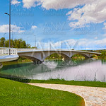 Zamora Poetas bridge over Duero river Spain