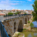 Zamora Puente de Piedra stone bridge on Duero