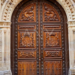 Zamora Diputacion wooden door in Spain