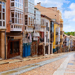 Zamora street Balboraz in Spain Via de la Plata